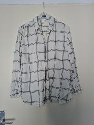 Kariertes Blusenhemd weiß
