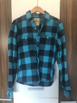 Hollister Flannel Shirt dark blue-light blue