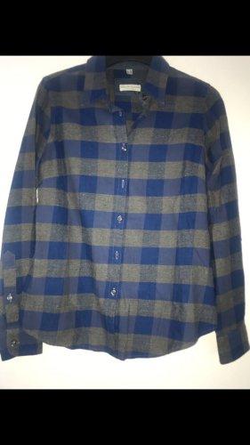 Marie Lund Houthakkershemd donkerblauw-grijs