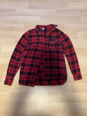 H&M Flanelowa koszula czarny-ciemnoczerwony
