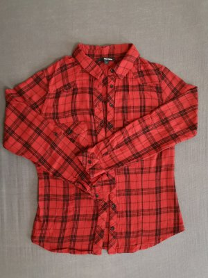 Tally Weijl Flannel Shirt red-black