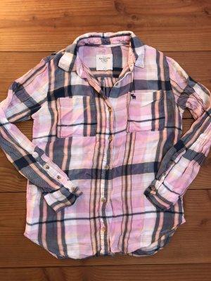 Abercrombie & Fitch Camicia da boscaiolo rosa chiaro-blu scuro
