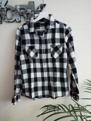 Urban Classics Houthakkershemd wit-zwart