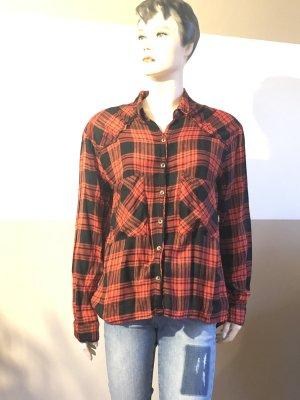 Koszula w kratę czarny-czerwony