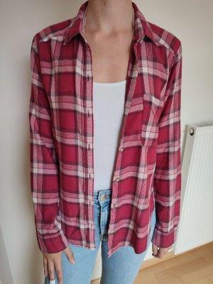 Hollister Blusa a cuadros rosa-magenta