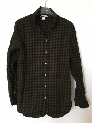 H&M Flannel Shirt dark blue-khaki