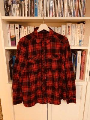 Hallhuber Camisa de manga larga rojo