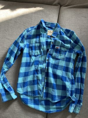 Hollister Lumberjack Shirt baby blue-blue