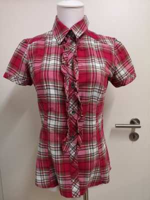 Kariertes Hemd mit Rüschen von Esprit