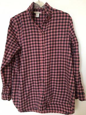 H&M Flannel Shirt pink-dark blue