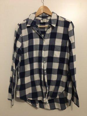 H&M L.O.G.G. Houthakkershemd wit-donkerblauw