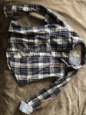 H&M L.O.G.G. Camicia da boscaiolo bianco-blu scuro