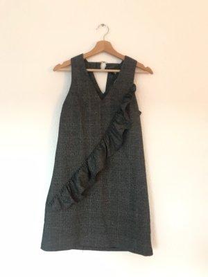 Kariertes Kleid mit Rüsche von Mango XS