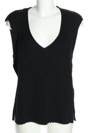 Karin Glasmacher Fijn gebreide cardigan zwart zakelijke stijl