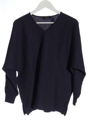 Karin Glasmacher V-Ausschnitt-Pullover blau Streifenmuster Casual-Look