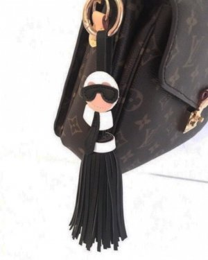 Key Chain black-white
