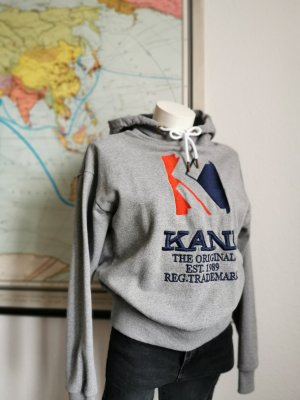 Karl Kani Felpa con cappuccio grigio Cotone