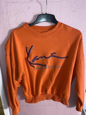Karl Kani Long Sweater orange-black