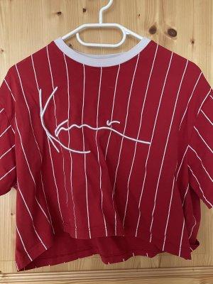 Karl Kani T-Shirt white-dark red cotton