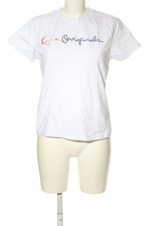 Karl Kani T-Shirt white embroidered lettering casual look