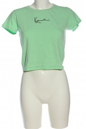 Karl Kani T-Shirt green-black flecked casual look