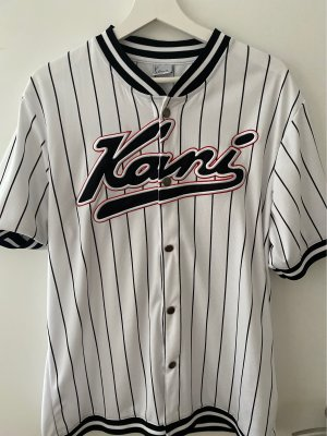 Karl Kani Chemise à manches courtes blanc-noir