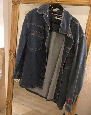 Karl Kani Jeansowa kurtka niebieski-czerwony