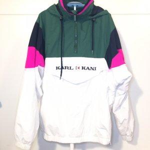 ❤️KARL KANI❤️ Windbreaker Jacke Gr. S weiß grün Pink wNEU