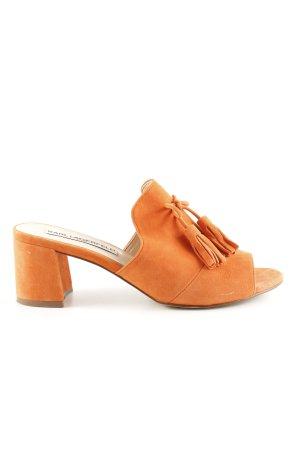 Karl Lagerfeld Sandalo con tacco arancione chiaro stile casual