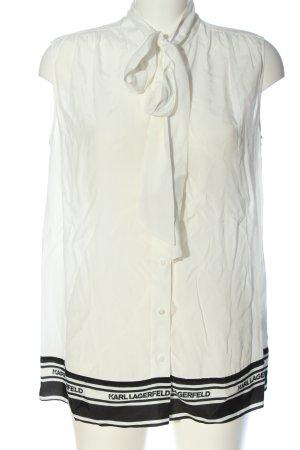Karl Lagerfeld Sleeveless Blouse white printed lettering business style