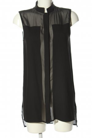 Karl Lagerfeld ärmellose Bluse schwarz Casual-Look
