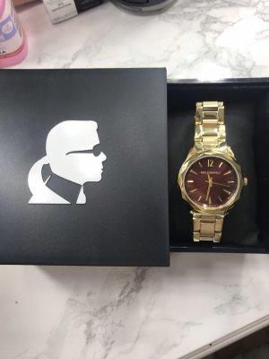Karl Lagerfeld Orologio analogico oro-bordeaux
