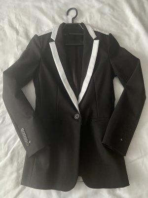 Karl Lagerfeld Lange blazer zwart-wit