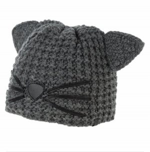 Karl Lagerfeld Sombrero de punto gris