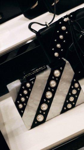 Karl Lagerfeld Clutch mit Perlen