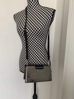 Karl Lagerfeld Bolso de mano color plata-negro