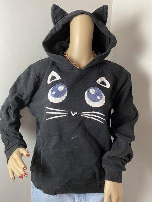 karl lagerfeld damen hoodie pullover mit katzen ohren gr xl sweetshirt gerbraucht