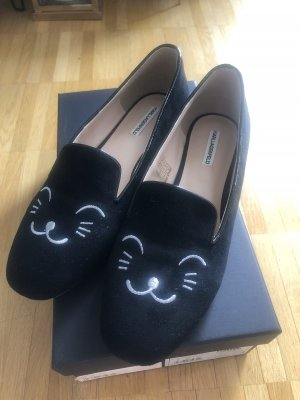 Karl Lagerfeld Damen Schuhe Halie Velvet Cat Loafer Samt Gr.40 NEU
