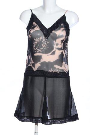 Karl Lagerfeld for H&M Minikleid schwarz-creme abstraktes Muster Casual-Look