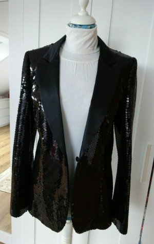 Karl Lagerfeld for H&M Pailletten Tuxedo Jacket 38 black
