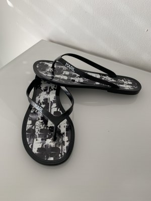 Karl Lagerfeld Chanclas negro-blanco