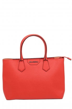 Karl Lagerfeld Handgelenktasche in Rot aus Leder