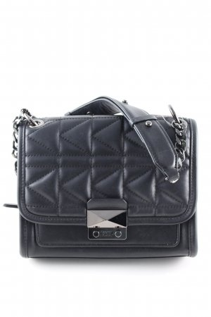 Karl Lagerfeld Handtasche schwarz Steppmuster Casual-Look