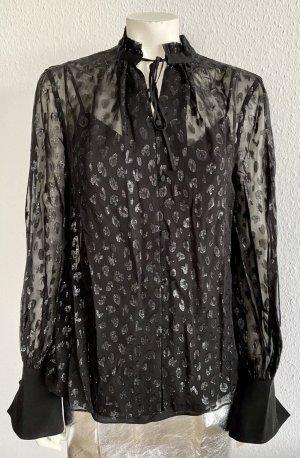Karl Lagerfeld Long Sleeve Blouse black polyester