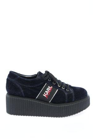 Karl Lagerfeld High top sneaker zwart-blauw casual uitstraling