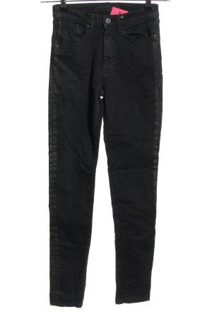 Karl Lagerfeld High Waist Jeans schwarz Casual-Look