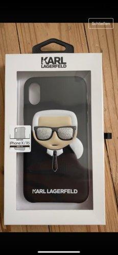 Karl Lagerfeld Étui pour téléphone portable noir-blanc