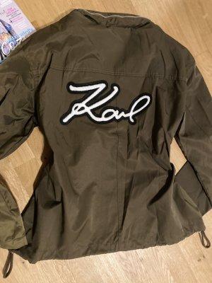 Karl Lagerfeld Jacke Khaki mit Schriftzug Karl - Gr. L