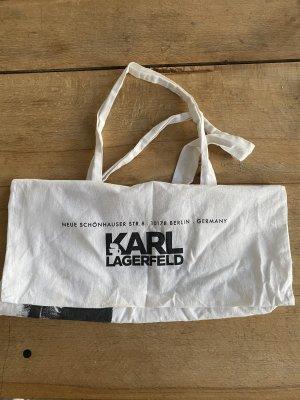 Karl Lagerfeld Jutebeutel Tasche bag weiß schwarz