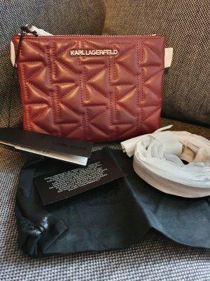 Karl Lagerfeld K/Kurl Crossbody Bordeaux silber Tasche Umhängetasche ungetragen